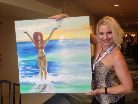 Jena Lee Mercer's bitcoin painting