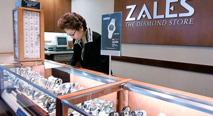 Momentum in Small-Cap Jeweler Zale Continues