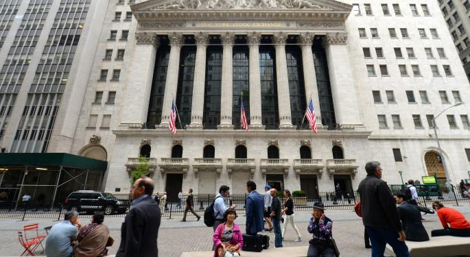 Mid-Morning Market Update: Markets Gain On Jobs Data; VeriFone Earnings Beat Estimates