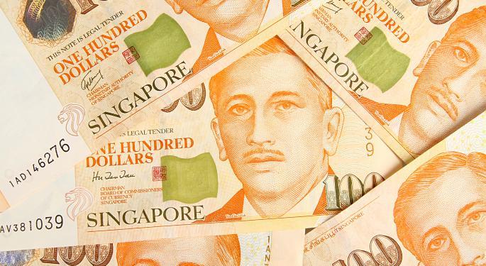 Singapore Dollar ETF Rises on Sibor Proposal