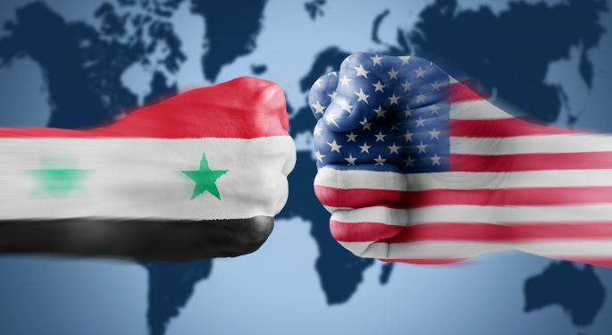 Before Syria Blowup, Short Interest In Defense Stocks Shrank GD, HII, UTX