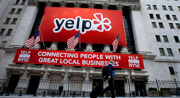 Yelp Continues to Surge After Lock-Up Expiration; Short Interest Rises