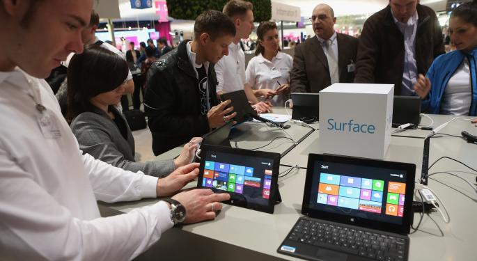 Microsoft Surface May Achieve 1% Market Share In 2014 MSFT
