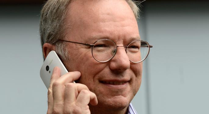 Google Chairman Eric Schmidt Receives $100 Million In Stock Bonus