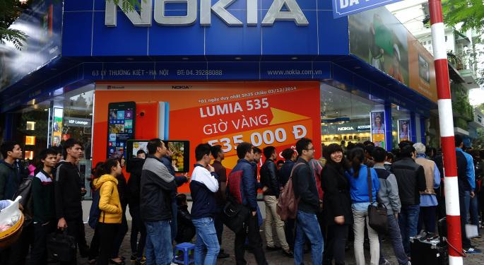 Here's Why Nokia And Alcatel Lucent Shares Just Spiked