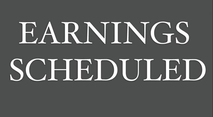 Earnings Scheduled For November 13, 2017