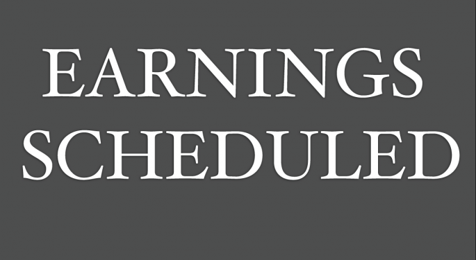 Earnings Scheduled For August 8, 2014