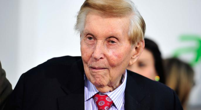 Sumner Redstone To Step Down As Head Of CBS; Moonves To Assume Role