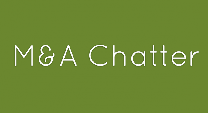 Benzinga's M&A Chatter for Monday September 16, 2013