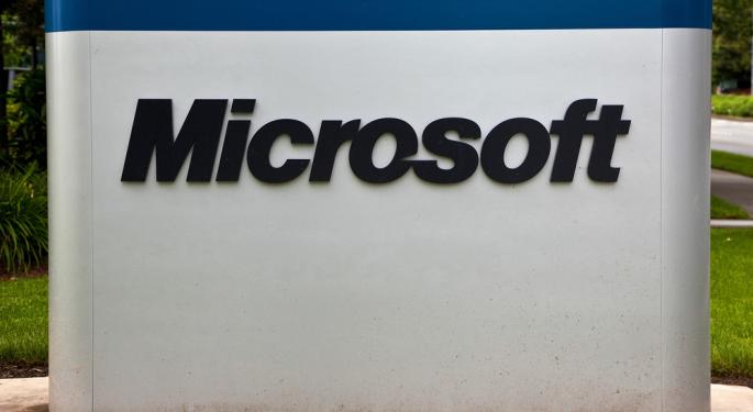 Microsoft Down After Reporting Lower Adjusted Earnings MSFT
