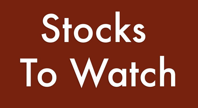 Stocks To Watch For August 15, 2013