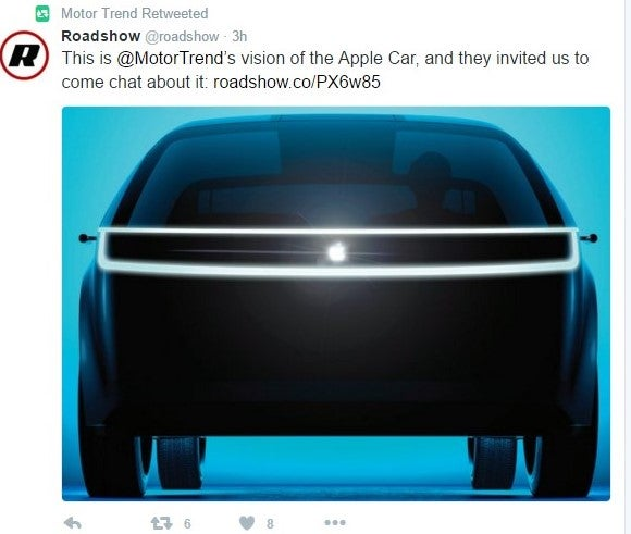 This is @MotorTrend's vision of the Apple Car, and they invited us to come chat about it: roadshow.co/PX6w85